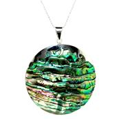 Beautifully Designed Round Mother of Pearl Pendant with 925 Sterling Silver
