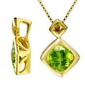 Gold Plated Pendant with Peridot