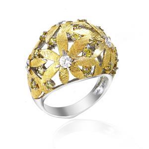 แหวน LENYA ETERNAL ประดับ SWAROVSKI ZIRCONIA ตัวเรือนเงินแท้ 925 ชุบทองคำขาว และทอง 18k