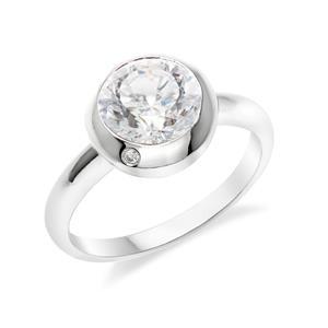 แหวน  DiamondLike เงินแท้ชุบทองคำขาว