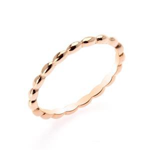 แหวน Bubble Ring ตัวเรือนเงินแท้ ชุบพิงค์โกลด์ เพิ่มลวดลายบนตัวเรือนให้ดูเก๋ไก๋