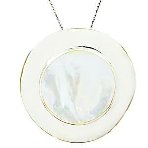 จี้มุก Mother of Pearl ดีไซน์รูปทรงหมวก สวยงามเจิดจรัสได้ทุกงาน บนตัวเรือนเงินแท้ชุบทองคำขาว