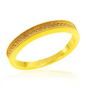 แหวนเพชร DiamondLike สีเหลืองบาดทุกสายตา สะกดทุกหัวใจ บนตัวเรือนเงินแท้ชุบทองคำแท้