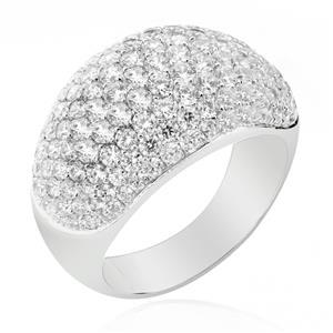 แหวนเพชร DiamondLike ระยิบระยับด้วยงานฝังละเอียดเต็มหน้านิ้ว ตัวเรือนเงินแท้ชุบทองคำขาว