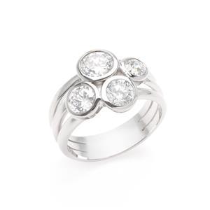แหวน Diamondlike ตัวเรือนเงินแท้ 925 ชุบทองคำขาว นิ้วแบบไหน ใส่แหวนวงนี้ก็สวยได้