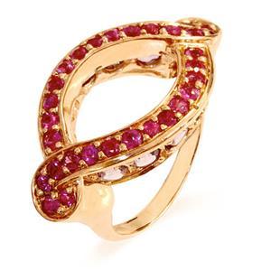 แหวนพลอยทับทิม(Ruby) ประดับด้วยพลอยอเมทิสต์(Amythyst) ดีไซน์เป็นเอกลักษณ์ บนตัวเรือนเงินแท้ชุบพิงค์โกลด์