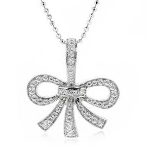จี้เพชร DiamondLike รูปโบว์ ตัวเรือนเงินแท้ชุบทองคำขาว หากกำลังมองหาของขวัญแทนใจให้คนรัก ชิ้นนี้ใช่เลย!