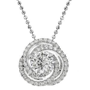 จี้เพชร DiamondLike ดีไซน์หรู ประกายดุจเพชรแท้ 99.99% บนตัวเรือนเงินแท้ชุบทองคำขาว