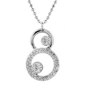 จี้เพชร DiamondLike สวยหวานน่ารัก บนตัวเรือนเงินแท้ชุบทองคำขาว  เหมาะสำหรับสวมใส่ได้ทุกวัน