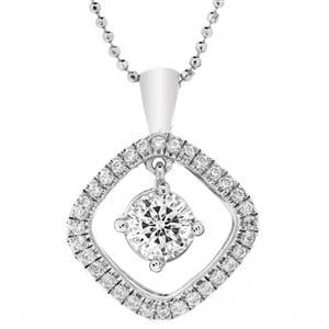 จี้เพชร DiamondLike สวยหวานน่ารัก เหมาะสำกรับสวมใส่ได้ทุกวัน บนตัวเรือนเงินแท้ชุบทองคำขาว