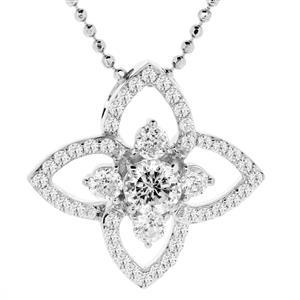 จี้เพชร DiamondLike สวยหวานน่ารัก เหมาะสำหรับสวมใส่ได้ทุกวัน บนตัวเรือนเงินแท้ชุบทองคำขาว