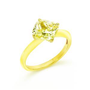แหวนเพชร DiamondLike สีเหลือง ขนาด 2 กะรัต บนตัวเรือนเงินแท้ชุบทอง งานคุณภาพที่เติมเต็มความหรูหราดังที่คุณต้องการ