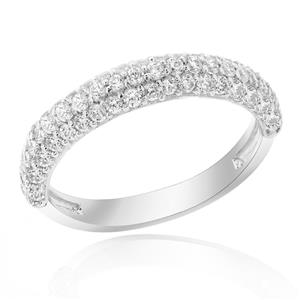 แหวนเพชร DiamondLike ระยิบระยับด้วยงานฝังที่ละเอียด ประดับไปด้วยเพชรจำนวน 67 เม็ด เต็มหน้านิ้ว ตัวเรือนเงินแท้ชุบทองคำขาว