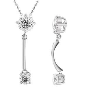 จี้ี้ดีไซน์น่ารักประดับเพชร DiamondLike ตัวเรือนเงินแท้ชุบทองคำขาว