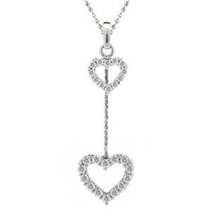 จี้เพชรDiamondLike ดีไซน์เพชรรูปหัวใจห้อยตุ้งติ้งน่ารักมาก เหมาะสำหรับมอบเป็นของขวัญให้คนที่คุณรัก บนตัวเรือนเงินแท้ชุบทองคำขาว