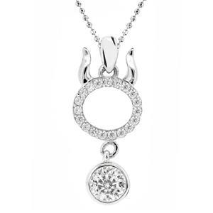 จี้เพชรDiamondLike สัญลักษณ์ Zodiac ประจำราศีพฤษก ความมั่นคงและหนักแน่น บนตัวเรือนเงินแท้ชุบทองคำขาวแท้