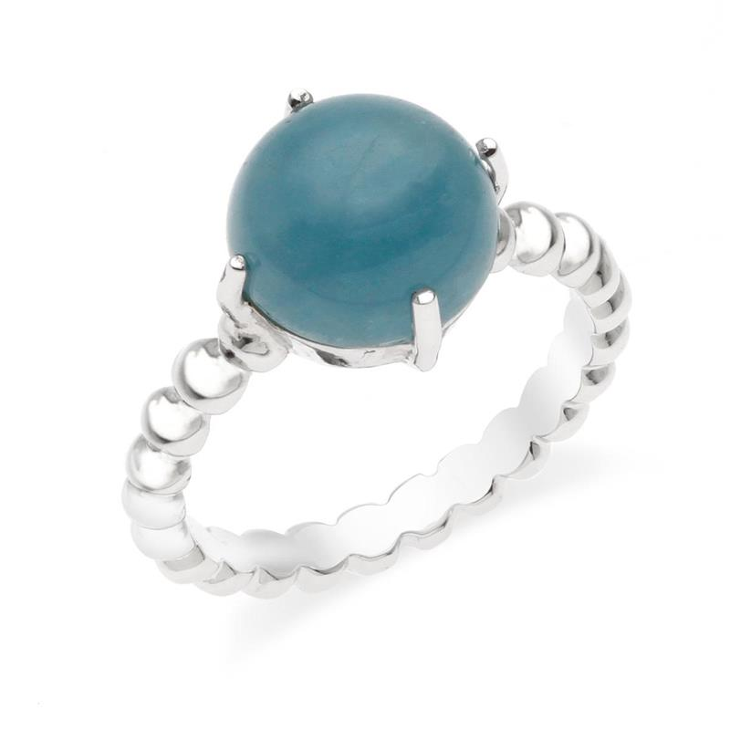 แหวนเงินแท้ 925 ประดับพลอยอะความารีน (Aquamarine) เม็ดงาม สวยสดใส สไตล์เจ้าหญิงยุโรป พร้อมเสริมเสน่ห์ให้กับผู้สวมใส่