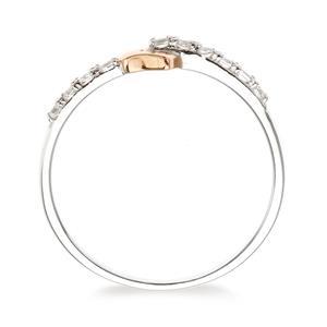 แหวนเงินแท้ 925 ชุบ2สี  ฝังด้วยพลอยสีขาวไวท์ โทแพซ ( white Topaz) ดีไซน์เรียบๆ ดูน่าค้นหา