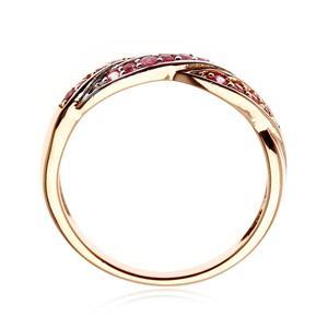 แหวนเงินแท้ 925 ประดับพลอยสีแดง ทับทิม (Ruby) และสีชมพู พิ้งแซฟไปร์ (Pink sapphire )  ชุบสองสีด้วยพิ้งโกลด์และทองขาว ดีไซน์สุดเก๋ เพิ่มเสน่ห์ให้กับเรียวนิ้วของคุณ