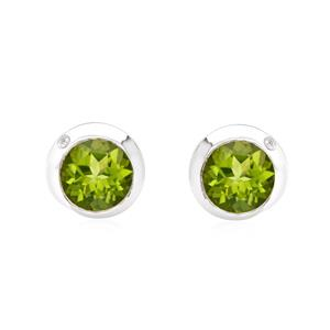 ต่างหูเงินแท้ ประดับพลอยสีเขียวอมเหลือง เพอริดอท (peridot) อัญมณีเพอริดอทนำมาซื่งอารมณ์และจิตใจที่มั่นคง