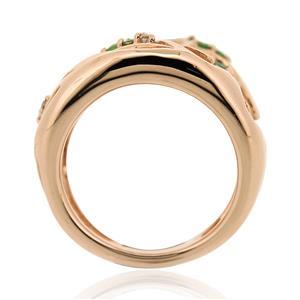 แหวนพลอย ซาโวไรท์(Tsavorite) และ คิวบิกเซอร์โคเนีย (Cubic Zirconia) ตัวเรือนเงินแท้ 925 ชุบทองพิ้งค์โกลด์ เลือกแหวนให้เหมาะกับนิ้ว เสริมรสนิยม สวยสง่า ดูดี