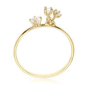 แหวนประดับพลอยแท้ ไวโทแพซ(White Topaz) ตัวเรือนเงินแท้ ชุบทองคำแท้ สวมใส่ได้ทุกโอกาส
