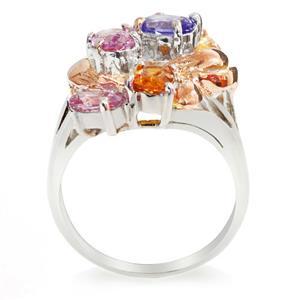 แหวนพลอยแท้หลากสีสัน พร้อมช่วยเพิ่มสีสันให้แก่ผู้ที่สวมใส่ ตัวเรือนเงินแท้ชุบทองคำขาว