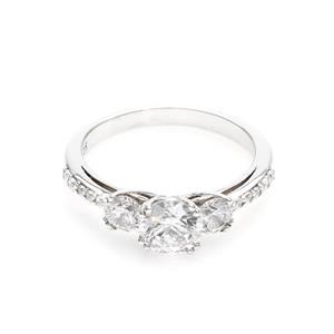 แหวน LENYA ETERNAL ประดับ  SWAROVSKI ZIRCONIA ตัวเรือนเงินแท้ชุบทองคำขาว