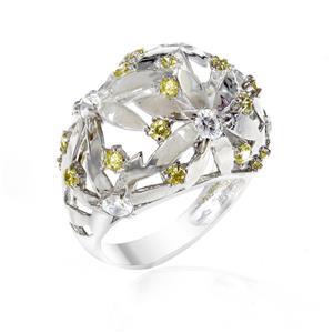 แหวน LENYA ETERNAL ประดับ SWAROVSKI ZIRCONIA ตัวเรือนเงินแท้ 925 ชุบทองคำขาว