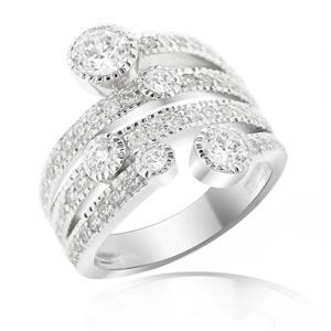 แหวน LENYA ETERNAL ประดับ SWAROVSKI ZIRCONIA ตัวเรือนเงินแท้ชุบโรเดียม ดีไซน์สวยไม่เหมือนใคร