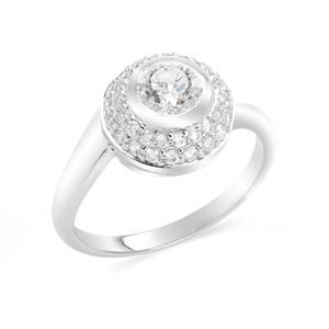 แหวนเงินแท้ 925 ประดับด้วย Diamondlike  เสริมบุคลิกเพิ่มความมั่นใจ