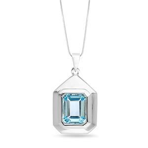 จี้พลอยบลู โทปาซ (Blue Topaz) สีฟ้า ตัวเรือนเงินแท้ชุบทองคำขาว จี้พลอยบลู โทปาซ (Blue Topaz) สีฟ้า ตัวเรือนเงินแท้ชุบทองคำขาว