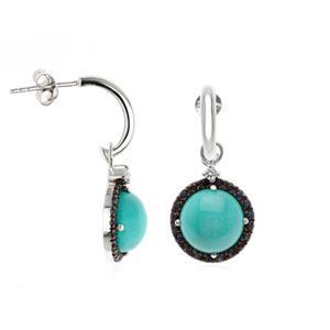 ต่างหูเงินแท้ 925 ชุบทองขาวสุดเก๋ 2 in 1 ที่จะไม่ทำให้คุณสาวๆ ต้องผิดหวัง โดดเด่นทั้งเรื่องดีไซน์และพลอยสีสีเขียว เทอร์ควอยซ์(Turquoise) ล้อมรอบด้วยแซฟไฟร์สีน้ำเงิน(Sapphire)และ คิวบิกเซอร์โคเนีย