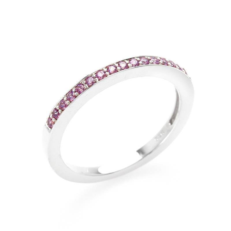 แหวน LENYA ETERNAL ประดับด้วย SWAROVSKI ZIRCONIA สีม่วงแฟนซี บนตัวเรือนเงินแท้ชุบทองคำขาวแท้ สวยคลาสสิค