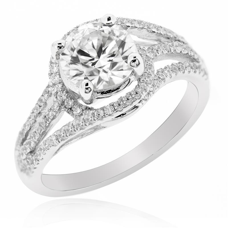 แหวนเพชร DiamondLike เพิ่มลูกเล่นเก๋ๆให้เรียวนิ้ว บนตัวเรือนเงินแท้ชุบทองคำขาว