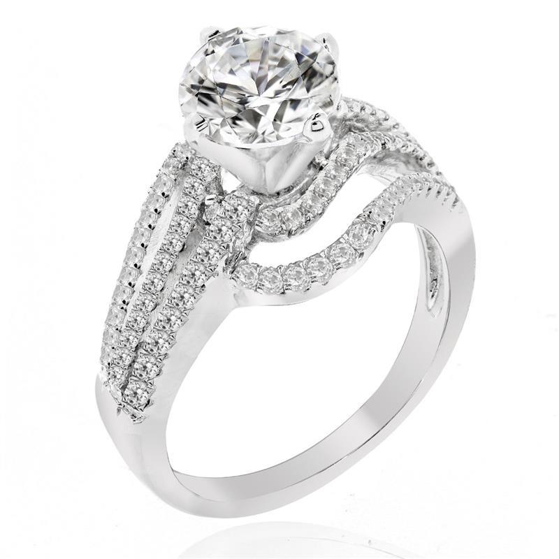 แหวน  LENYA ETERNAL ประดับด้วย SWAROVSKI ZIRCONIA สุดหรูดีไซน์แปลกแวกแนวโดดเด่นไม่เหมือนใคร