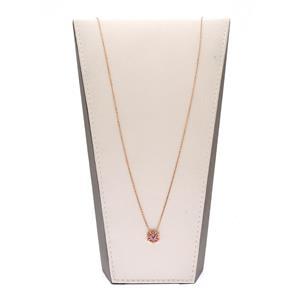 สร้อยคอเงินแท้ 925 ชุปพิงค์โกลด์ ประดับพลอยสีม่วงอเมทิสต์ (Amethyst) ล้อมรอบด้วยพลอยสีแดง ทับทิม (Ruby) ดีไซต์ สวยโดดเด่นเปรียบดั่งรัศมีแห่งความเจริญรุ่งเรือง สวมใส่ได้ทุกโอกาส