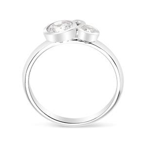 แหวนเงินแท้ 925 LENYA ETERNAL ชุบทองคำขาว ประดับด้วย SWAROVSKI ZIRCONIA สีขาว สวยคลาสสิค  เสริมบุคลิกเพิ่มความมั่นใจ