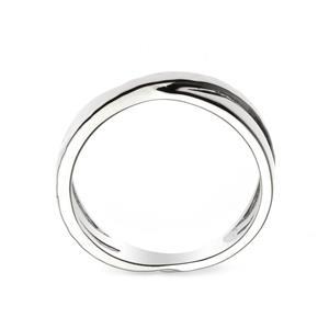 แหวน X Ring ตัวเรือนเงินแท้ 925 โรเดียม เพิ่มลวดลายบนตัวเรือนให้ดูเก๋ไก๋