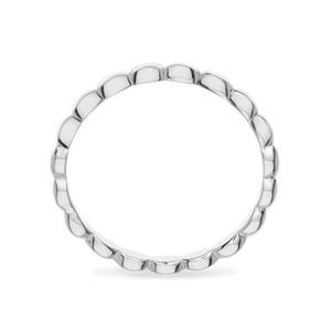 แหวน Bubble Ring ตัวเรือนเงินแท้ ชุบทองคำขาว เพิ่มลวดลายบนตัวเรือนให้ดูเก๋ไก๋