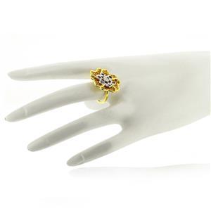 แหวนเงินแท้ ชุบทอง 18K ดีไซน์สวย ประดับด้วยโกเมน ซิทริน และ  CZ
