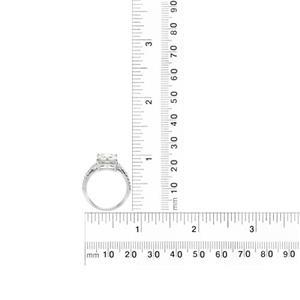 แหวน LENYA ETERNAL ประดับ SWAROVSKI ZIRCONIA ตัวเรือนเงินแท้ชุบโรเดียม